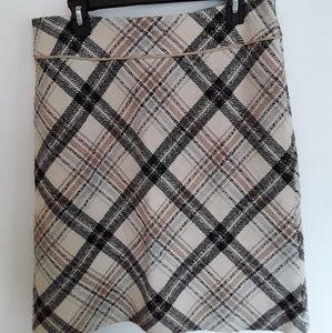 Plaid wool Ann Taylor Loft skirt